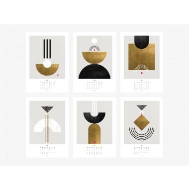 typealive / Wandkalender DIN A3 / Black & White 2020