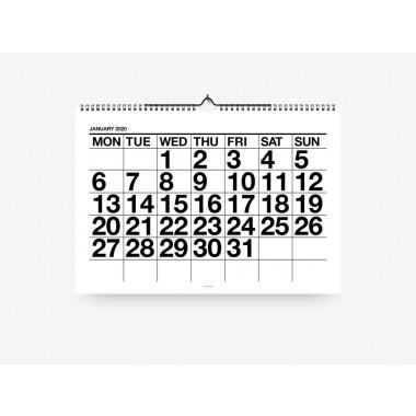 typealive / Wandkalender DIN A3 / Typo Black & White 2020