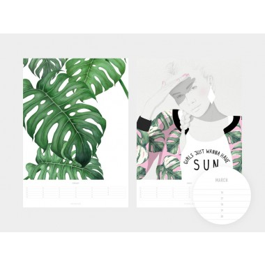 typealive / Wandkalender / Tropical 2020