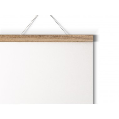 Magnetische Posterleiste aus Eiche / perfekt für DIN A5-Prints