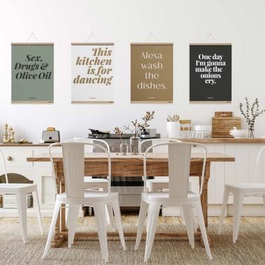 Küchenposter »Onions« mit Posterleiste