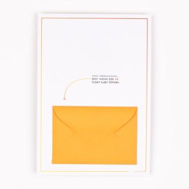 TYPOP 5-teiliges Set Design ADVENTSKALENDER-KARTE Kerzen inkl. Umschlag