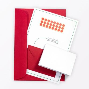 TYPOP 5-teiliges Set Design ADVENTSKALENDER-KARTE Stechpalme