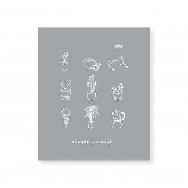 zita products - ULLA Geschirrtuch - grau