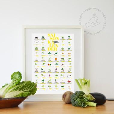 DRUCK STÜCK Veganer Saisonkalender (DIN A2 & DIN A3)