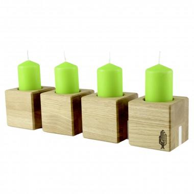 Kerzenhalter kvar, Kerzenständer aus Holz | Kerzenhalter für 4 Kerzen | Holzbutiq