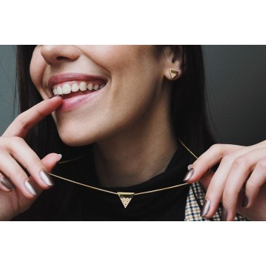 BeWooden Ohrringe - Ohrstecker mit Holzdetail - Virie Earrings Triangle