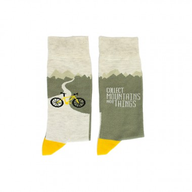 Socken Collect Mountains not things - Roadtyping X Wams