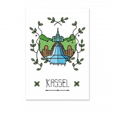 Stadtliebe® | Kassel - Kaskaden Kunstdruck A3