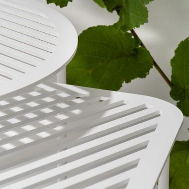 Beistelltisch Grid 01 weiß