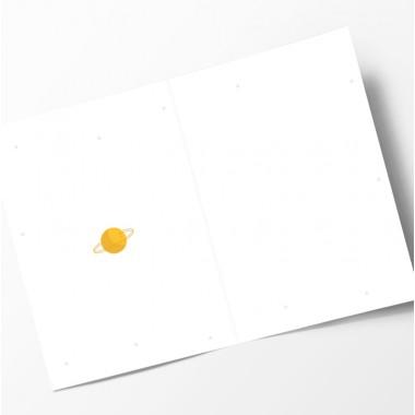 """Edith schmuckes Papier """"Ab ins All! - Geschenk Set"""" 2 Bögen Geschenkpapier und 1 Grußkarte mit Briefumschlag"""