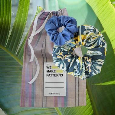 We Make Patterns - Scrunchie Set Jungle - Green/Blue
