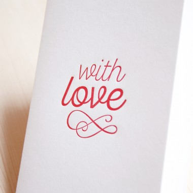 finicrafts with love Letterpress-Klappkarte mit Umschlag