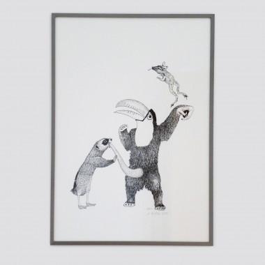 Anka Büchler Das Liebesspiel der Wolpertinger limitierte Siebdruckserie, Motiv 5