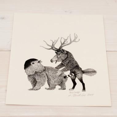 Das Liebesspiel der Wolpertinger limitierte Digitaldruckserie, Motiv 06