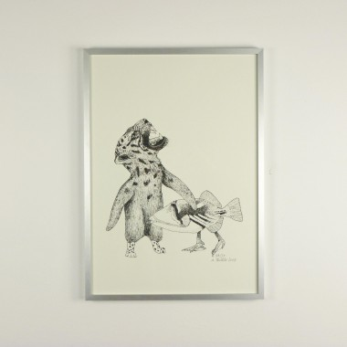 Anka Büchler Das Liebesspiel der Wolpertinger limitierte Risodruckserie, Motiv 2