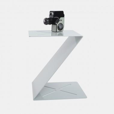 """hinzkunst Beistelltisch """"XYZ"""" Edelstahl pulverbeschichtet, grün/weiß"""