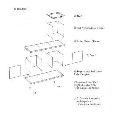 Konstantin Slawinski YU BENCH 3x1 / MDF weiß