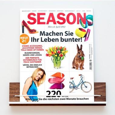 Zeitschriftenhalter Nussbaum