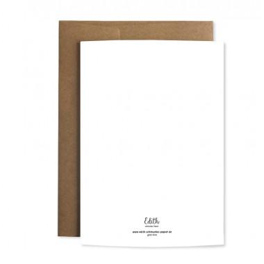 """Edith schmuckes Papier """"Zur Taufe"""" Grußkarte"""