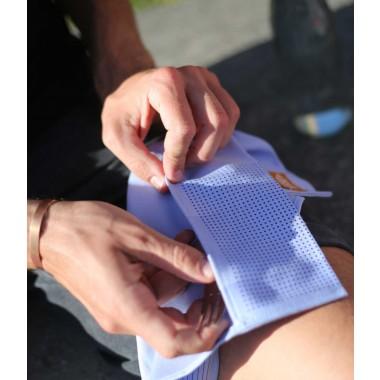 ZURÜCK Picknick Serviette bedruckt blau