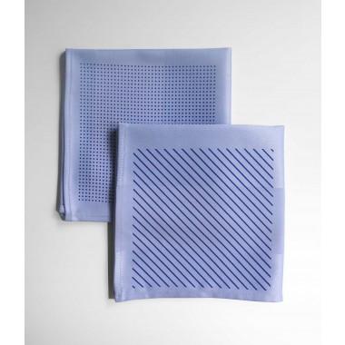 ZURÜCK Serviette 2er Set bedruckt blau
