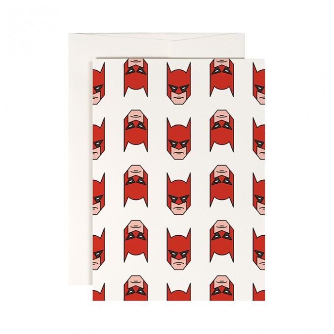 redfries superhero –Klappkarte DIN A6 mit Umschlag