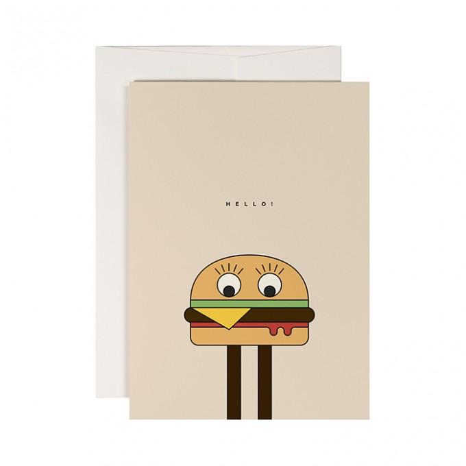 redfries burgerman –Klappkarte DIN A6 mit Umschlag