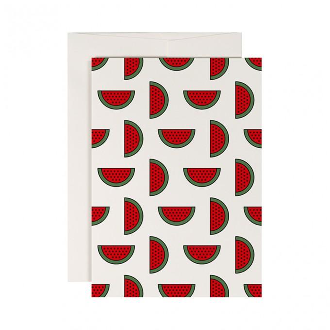 redfries melon punch –Klappkarte DIN A6 mit Umschlag