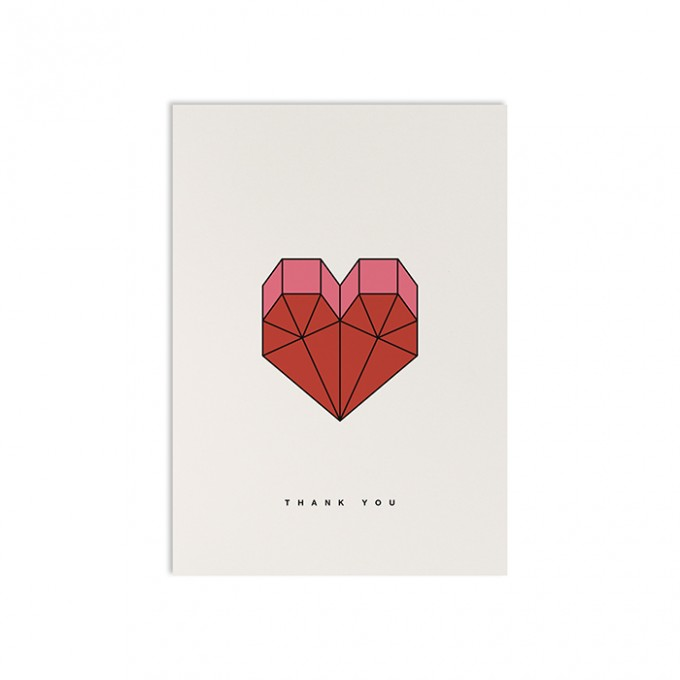 redfries geometric heart – Postkarte DIN A6