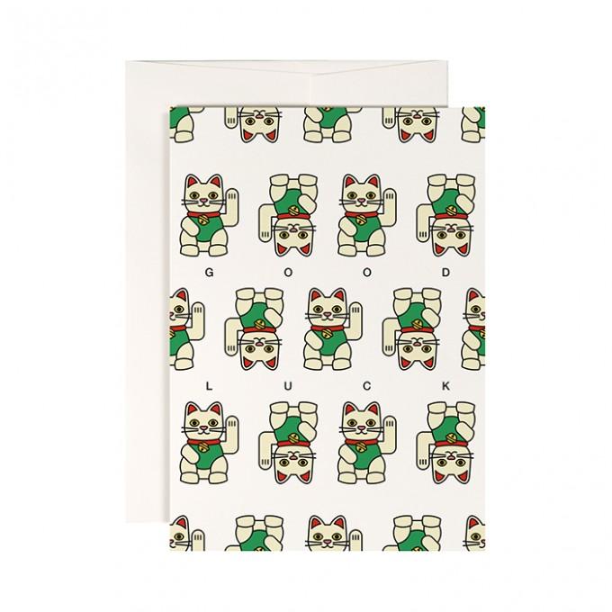 redfries lucky charm – Klappkarte DIN A6 mit Umschlag