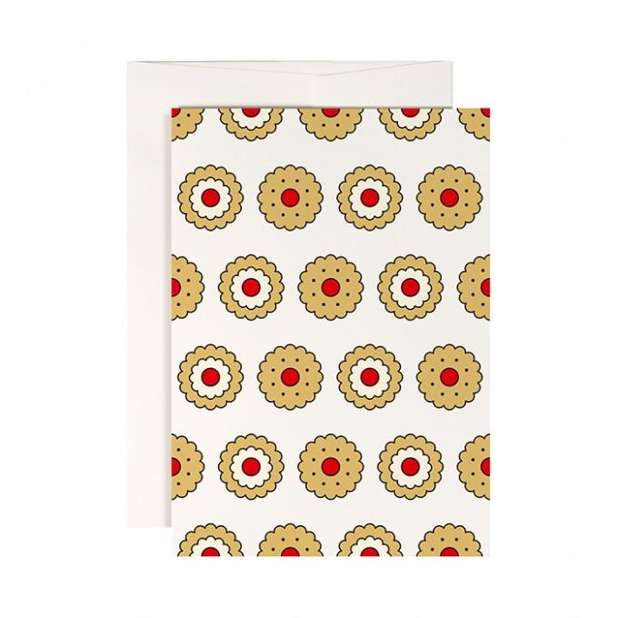 redfries butter biscuit – Klappkarte DIN A6 mit Umschlag