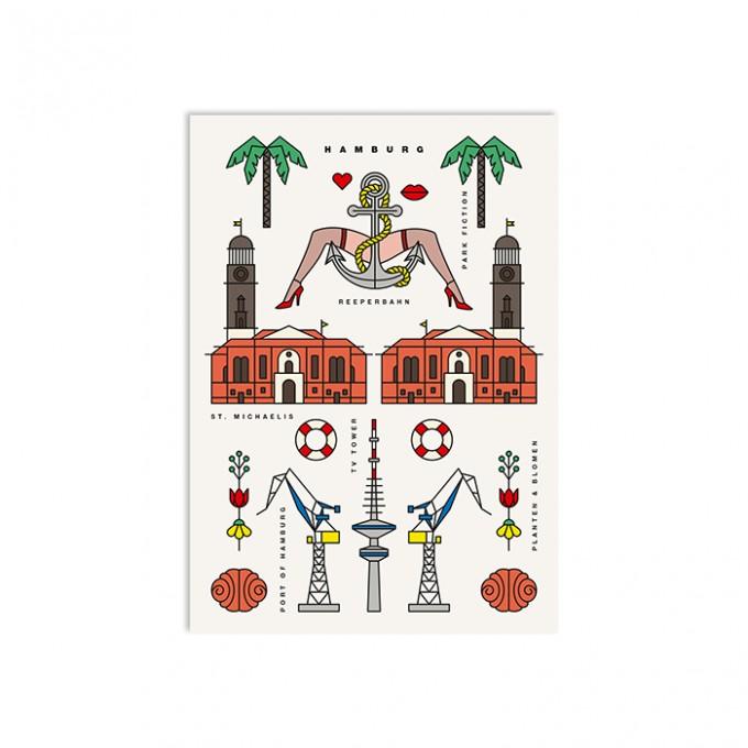 redfries hamburg – Postkarte DIN A6