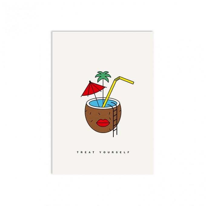 redfries coconut dreams – Postkarte DIN A6