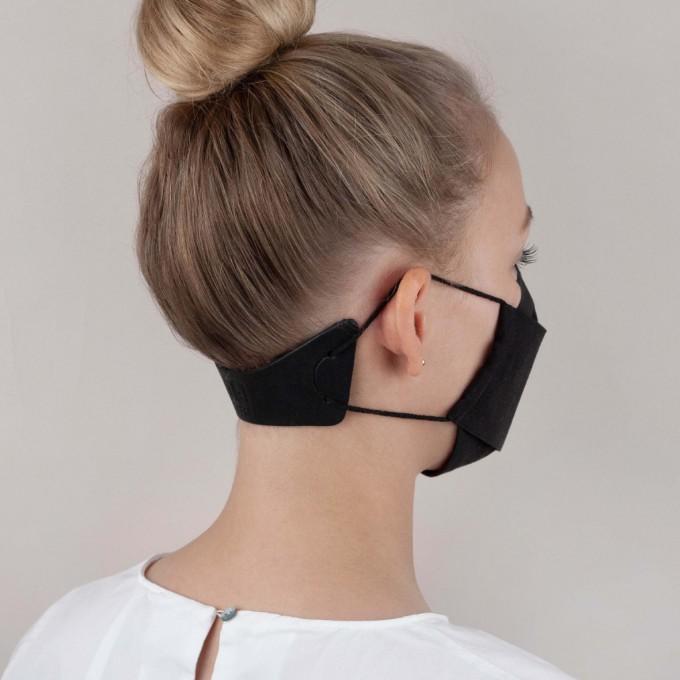 Laura Stolz / Extender / Maskenverlängerung / pflanzlich gegerbtes Leder / schwarz