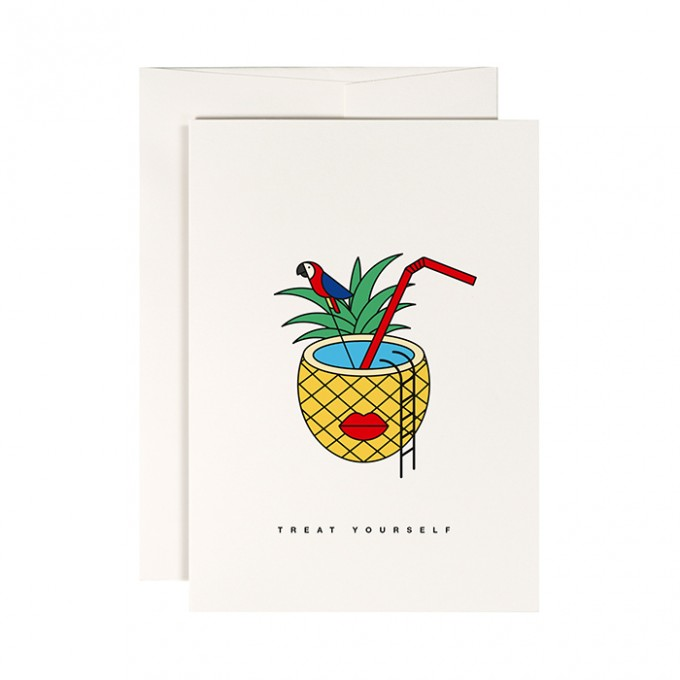 redfries tropical punch –Klappkarte DIN A6 mit Umschlag