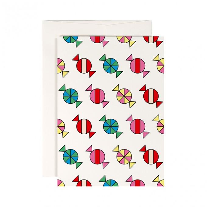 redfries candy shop –Klappkarte DIN A6 mit Umschlag