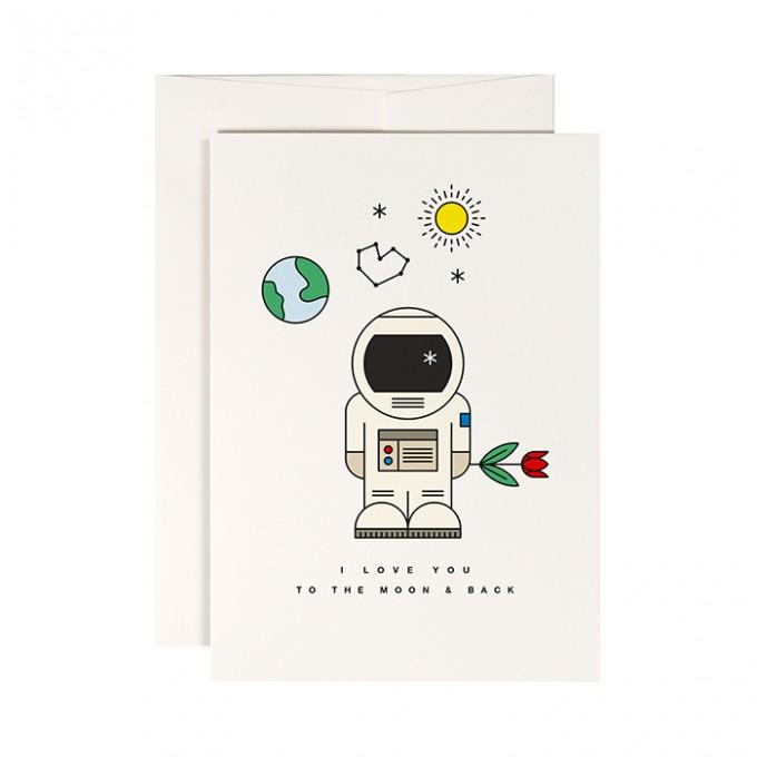 redfries moonwalker – Klappkarte DIN A6 mit Umschlag