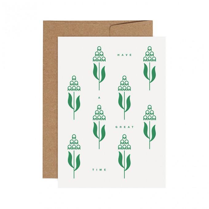redfries flower field – Letterpress-Klappkarte DIN A6 mit Umschlag