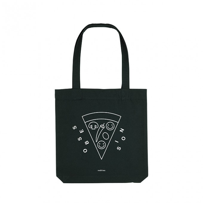 redfries tote bag pizza – Recycelte Baumwolltasche