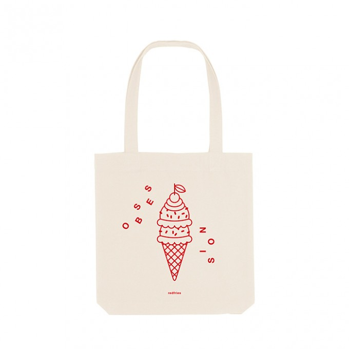 redfries tote bag icecream – Recycelte Baumwolltasche