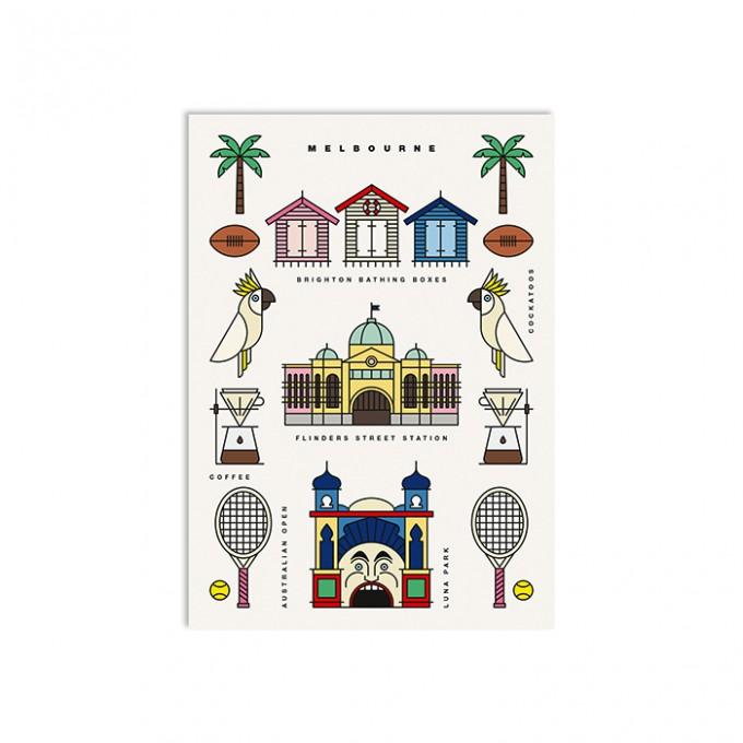 redfries melbourne – Postkarte DIN A6