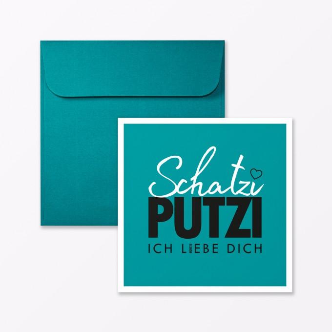 """TYPOP Postkarte """"Schatziputzi"""" quadratisch inkl. Umschlag"""