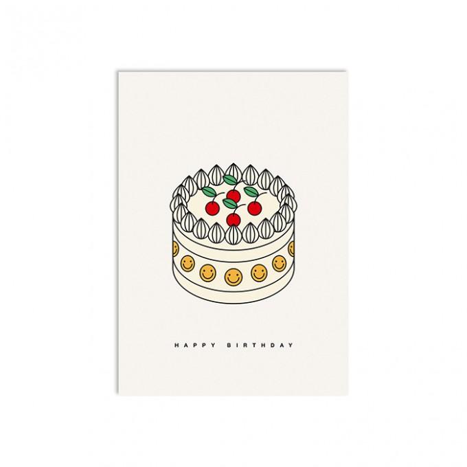redfries cream pie – Postkarte DIN A6