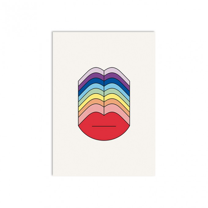 redfries rainbow kisses – Postkarte DIN A6