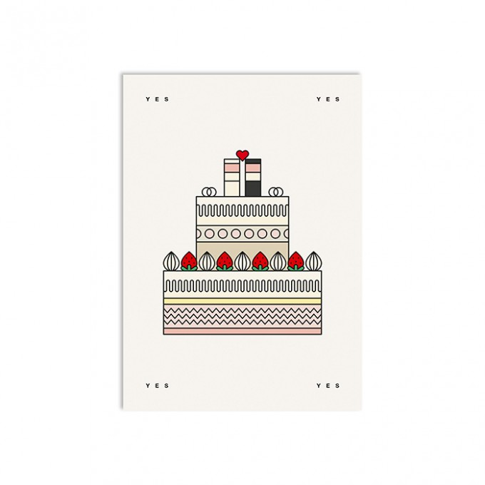 redfries queen marry – Postkarte DIN A6 Hochzeit