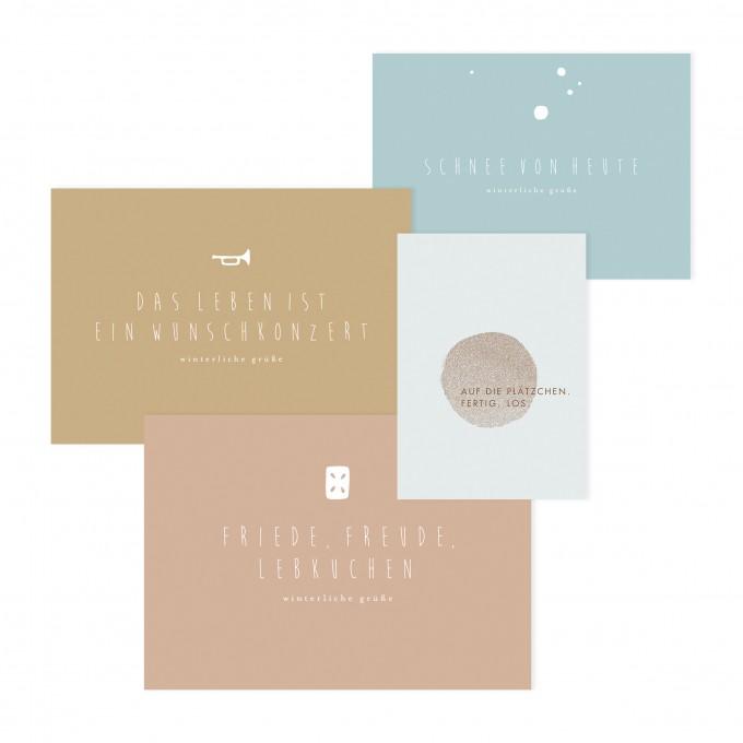 Daheim Sein –  Postkartenset: Weihnachten