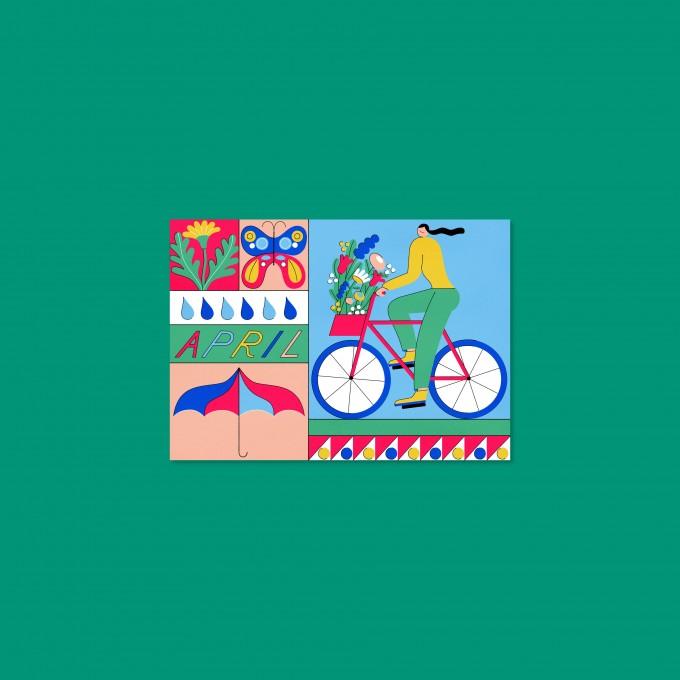 Anne Albert – April – Postkarte (A6)