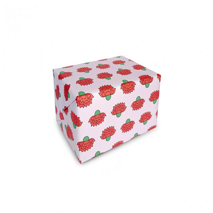 redfries carnations –Geschenkpapier DIN B2, 3 Bögen