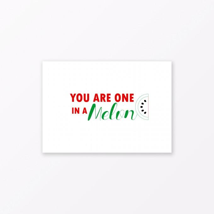 "TYPOP Postkarte ""One in a melon"" DIN A6"